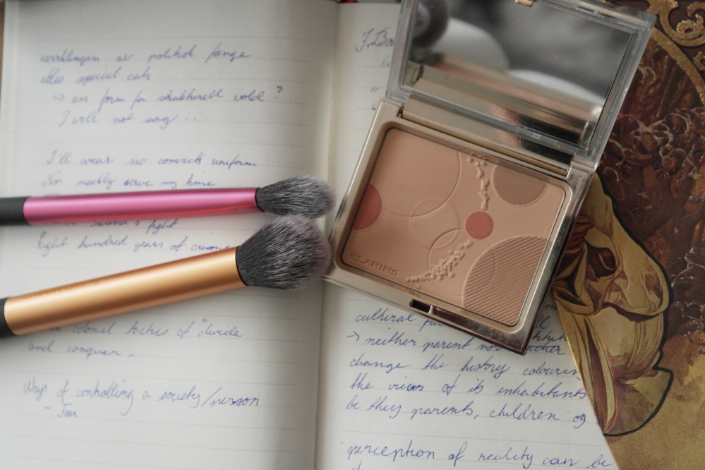 clarins opalescence face and blush palette