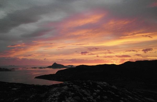 Sunset over Konsvik
